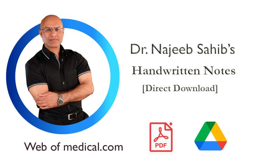Dr. Najeeb Handwritten Notes PDF Free Download