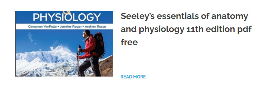 Seeley's essentials of anatomy and physiology 11th edition pdf